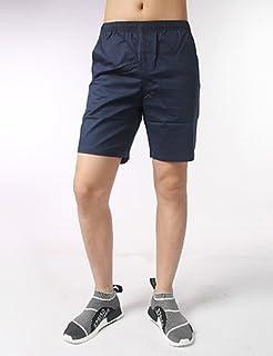 6e779db25 Men Pants Hombre Sencillo Tiro Medio Inelástica Shorts Pantalones,Corte  Ancho Un Color, White