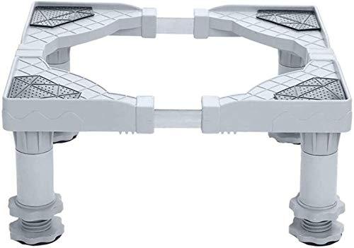 Awyac Waschmaschine Sockel 4 Fuß Untergestell, Verschiebbar Podeste Rahmen Für Kühlschrank, Multifunktionaler Beweglicher Verstellbare Stand Für Trockner