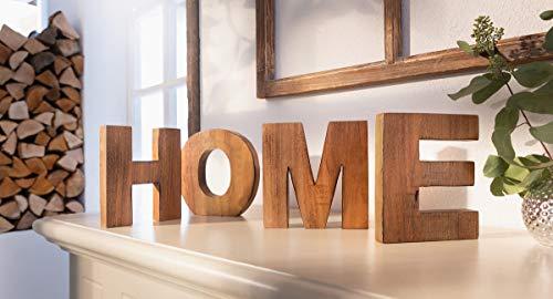 """4 TLG. Schriftzug """"Home"""" aus Holz, Dekoschriftzug, Holzbuchstaben, Dekoobjekt"""