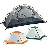 Hyke & Byke Tente de Camping et de Randonnée Yosemite 1 ou 2 Personnes avec Bâche de Sol Incluse – Tente Ultralight Double Porte en Forme de Dôme