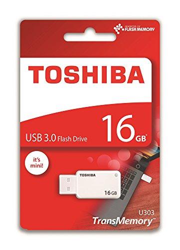 Toshiba Akatsuki Pendrive 16Gb, Chiavetta Usb 3.0, Transmemory U303, Bianco