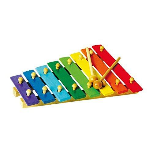 Xylophone enfant en bois coloré - 8 notes
