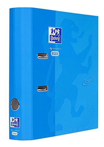 OXFORD Elba 400104026 - Archivador redondo (DIN A4, papel con superficie suave al tacto), color azul
