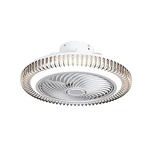 Ventilador Techo Con Luz Silencioso Ventilador De Techo Silencioso Led Ventilador De Techo Con Mando Lampara Ventilador Techo Ventiladores De Techo Modernos 50CM 72W,Blanco