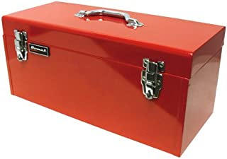 Homak 20-Inch Steel Flat-Top Toolbox with Removable Tray, Red, RD00120920