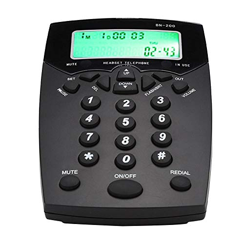 Teléfono de centro de atención telefónica, servicio de atención al cliente de centro de atención telefónica Teléfono de la caja de llamada del operador, con indicación luminosa de silencio, avisos de