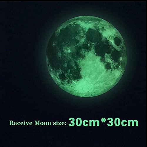 Wuixisajjh Combinación De Estrellas De Luna Luminosa Pegatina De Pared 3D Para Habitación De Niños Decoración Del Hogar Pegatinas Que Brillan En La Oscuridad