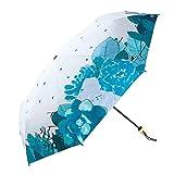 Paraguas plegable paraguas plegable verano 8 huesos parasol flor patrón bronceado bustidamente abierto y cerrado conveniente clima paraguas paraguas ligero con cubierta de viaje paraguas ,proteccion s