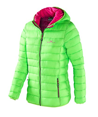 Black Crevice Damen Isolationsjacke in Daunenoptik, Grün (Green), 36