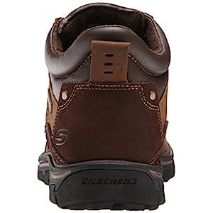 Skechers USA Men's Segment Melego Ankle Bootie, Dark Brown, 10.5 2W US