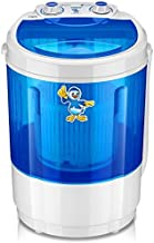 Qualimate Plastic Round Portable Mini Washing Machine with Dryer Basket (Blue)