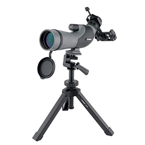 SVBONY SV402 Spotting Scope Portable 16-48x60mm with Tripod and Phone Adapter for Bird Watching Waterproof Compact Prism FMC Eyepiece