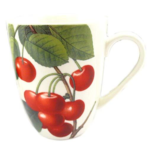 Les Trésors De Lily [Q8825 - Mug céramique 'Verger Gourmand' Cerise - 10x8 cm