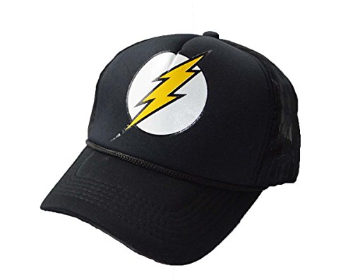 KGM Accessories Cool nouveau Noir Flash Logo Mesh Back Casquette camionneur