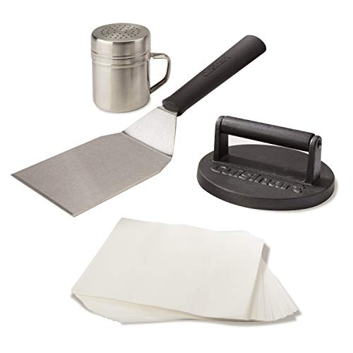 Cuisinart CSBK-400, Smashed Burger Kit, Cast Iron