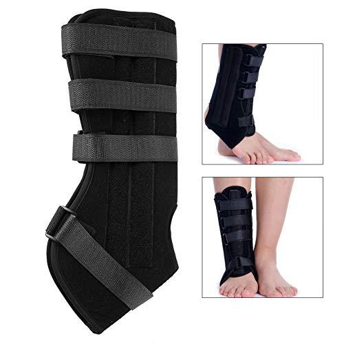 Tobillera de Apoyo para el Tobillo, para Correr, Caminar, esguinces, Artritis, Tela compuesta de Tobillera Ajustable con elástico y cómodo(L-Negro)