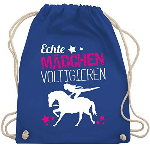 Shirtracer Reitsport - Echte Mädchen voltigieren - Unisize - Royalblau - voltigieren turnbeutel - WM110 - Turnbeutel und Stoffbeutel aus Baumwolle