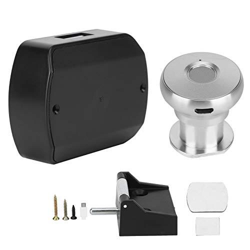 01 Sistema de Cerradura, cerraduras sin Llave del gabinete de Las cerraduras de la aleación de Aluminio, para el hogar de la Oficina(Aluminum Alloy Handle Silver)