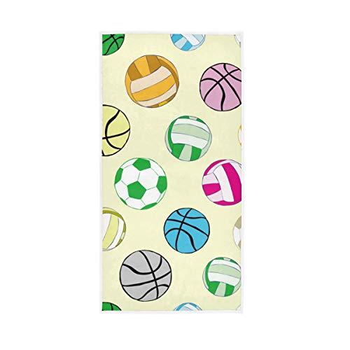 Rootti - Toalla de mano de algodón con varios patrones de bolas, lavable, toalla de cara, toalla suave y transpirable, toalla de sudor para nadar hotel