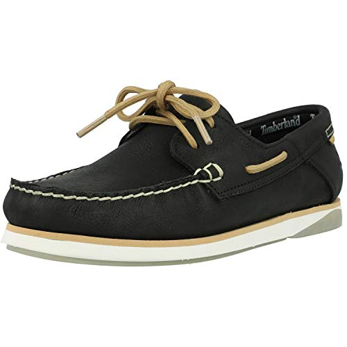 Timberland Atlantis Break Boat Shoe Black Full Grain Leather 10½ US Mens