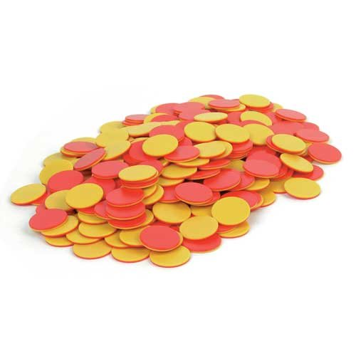 EAI Education Two-Color Counters: Red/Yellow - Set of 200