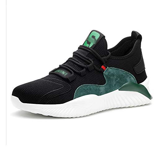 ZYFXZ Zapatillas de seguridad ligeras para hombres, zapatillas de deporte de trabajo casual antideslizantes de damas, zapatillas industriales de punta de acero para caminar y senderismo zapatos de seg ⭐