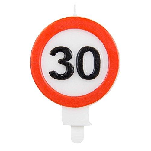 Candela con segnale stradale 30 anni