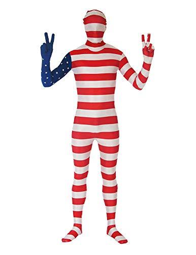 VSVO Kids American Flag Halloween Cosplay US Flag Costume Bodysuit (Children Small, US Flag)