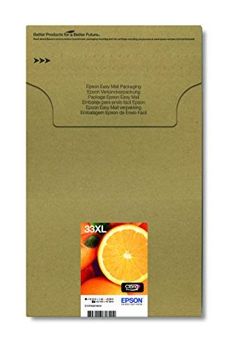 Epson Original 33XL Tinte Orange (XP-530 XP-630 XP-635 XP-830 XP-540 XP-640 XP-645 XP-900 XP-7100, Amazon Dash Replenishment-fähig) Multipack 5-farbig