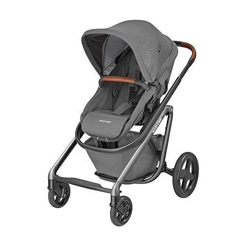 Maxi-Cosi Lila Bequemer Kinderwagen, Geeignet ab der Geburt, Reisesystem mit Babywanne, 0 Monate - 3,5 Jahre, 0-15 kg, Sparkling Grey (grau)