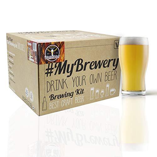 #Cervezanía Kit per Fare la Birra Artigianale. Stile Weissbier. 5 Litri. Malto macinato e Luppolo Fresco. La Tua Birra a casa