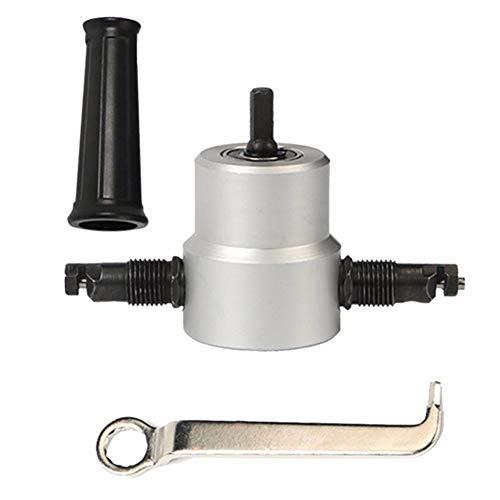 Best Bargain LXB Professional Double Headed Sheet Metal Nibbler Cutter, Drill Attachment Nibbler Met...