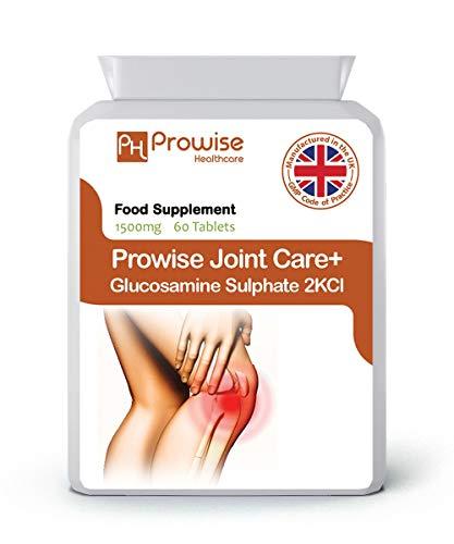 Joint Care + Glucosamine Sulphate 2KCL 1500mg 60 compresse - Regno Unito Prodotto secondo GMP Qualità garantita da Prowise Healthcare