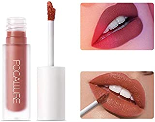 FOCALLURE STAYMAX MATTE LIP INK, Not stick cup Lipgloss, Non-fading Long Lasting Waterproof Lip Gloss, Silky Liquid Lipstick, Nature Matte Lip Glaze Makeup with Vitamin E, FA134-16100-8