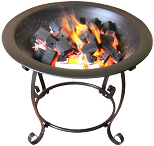 Fire Bowl Pit Basket Stainless Steel Garden Grill Brazier BBQ Iron Stove Vertical Hob Grill
