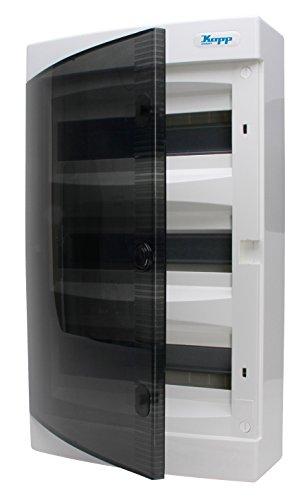 Kopp Aufputz–Caja de distribución con Puerta de 3Filas, para 36Pole, 1Pieza, Gris/Negro, 350913049
