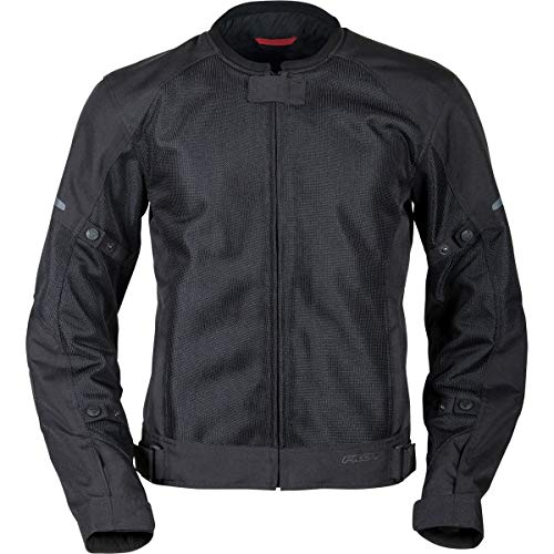 Pilot Motosport men's Slate Air Mesh Motorcycle Jacket, BLACK, XL, X-Large