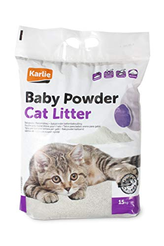 Karlie Katzenstreu Babypuderduft, 15 kg