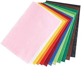 Efco Lot de 12 Coupons de Feutrine Couleurs Assorties, épais. 1-2 mm, 20 x 30 cm