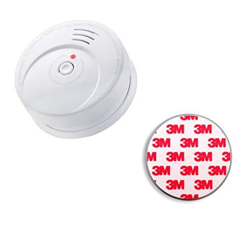 Jeising GS506 G Rauchmelder/Brandmelder/ 10 Jahres Lithium Batterie KRIWAN zertifiziert EN14604 inkl. Magnetbefestigung Magnetopad, (1x Rauchmelder + 1x Magnetopad)