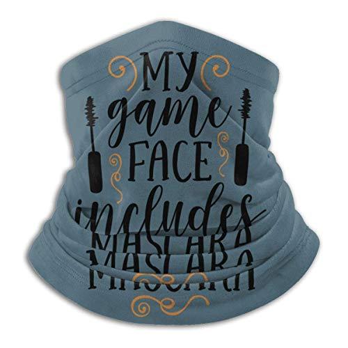 My Game Face Includes Mascara Bandana for Rave Dust Wind UV Sun Neck Gaiter Headwear Sports...