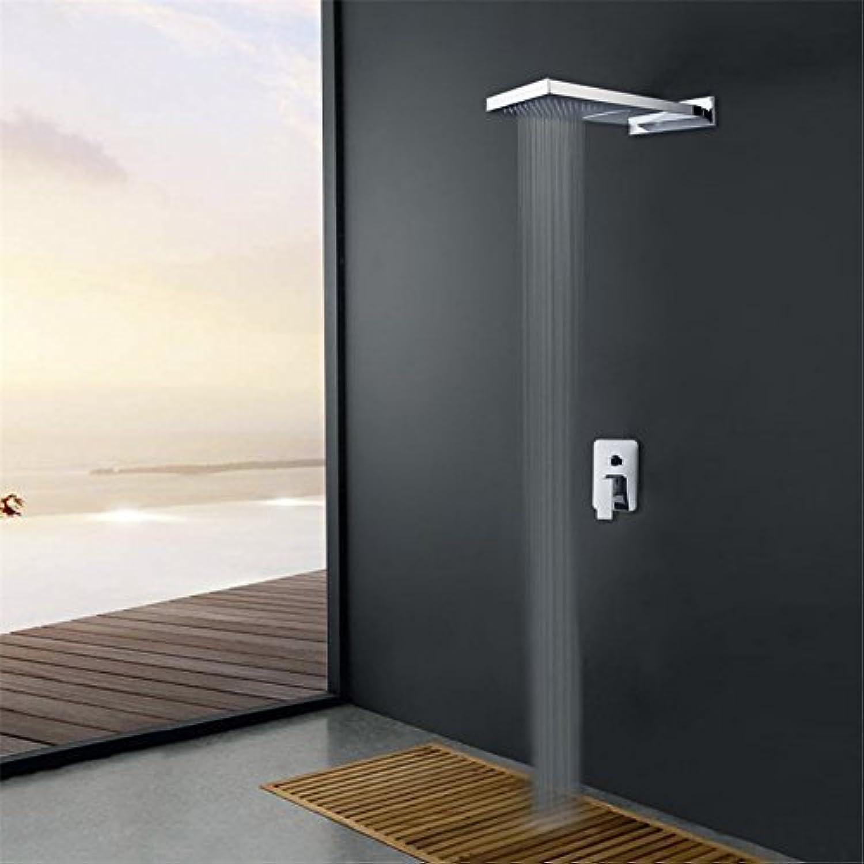 Luxurious shower Badezimmer tow Dusche weg Dusche Wasserhahn set bar Form Niederschlag Duschkopf und Alarmventilstation Dusche