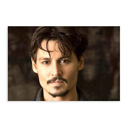Portrait - Inset - Johnny Depp 4 Canvas Poster Bedroom Decor Sports Landscape Office Room Decor Gift 24×36inch(60×90cm) Unframe-style1