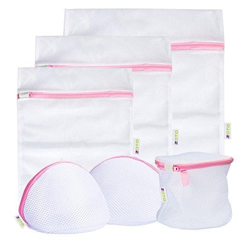 Romote de lavandería bolso de la colada, 6 Conjunto de malla Dedica sujetador bolsa de lavado de la ropa interior, Medias, calcetines, bebé del paño