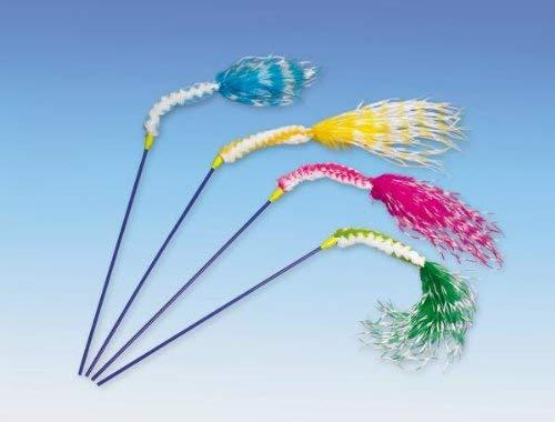Nobby Zaza kattenspeelgoed hengel 45 cm, verschillende kleuren