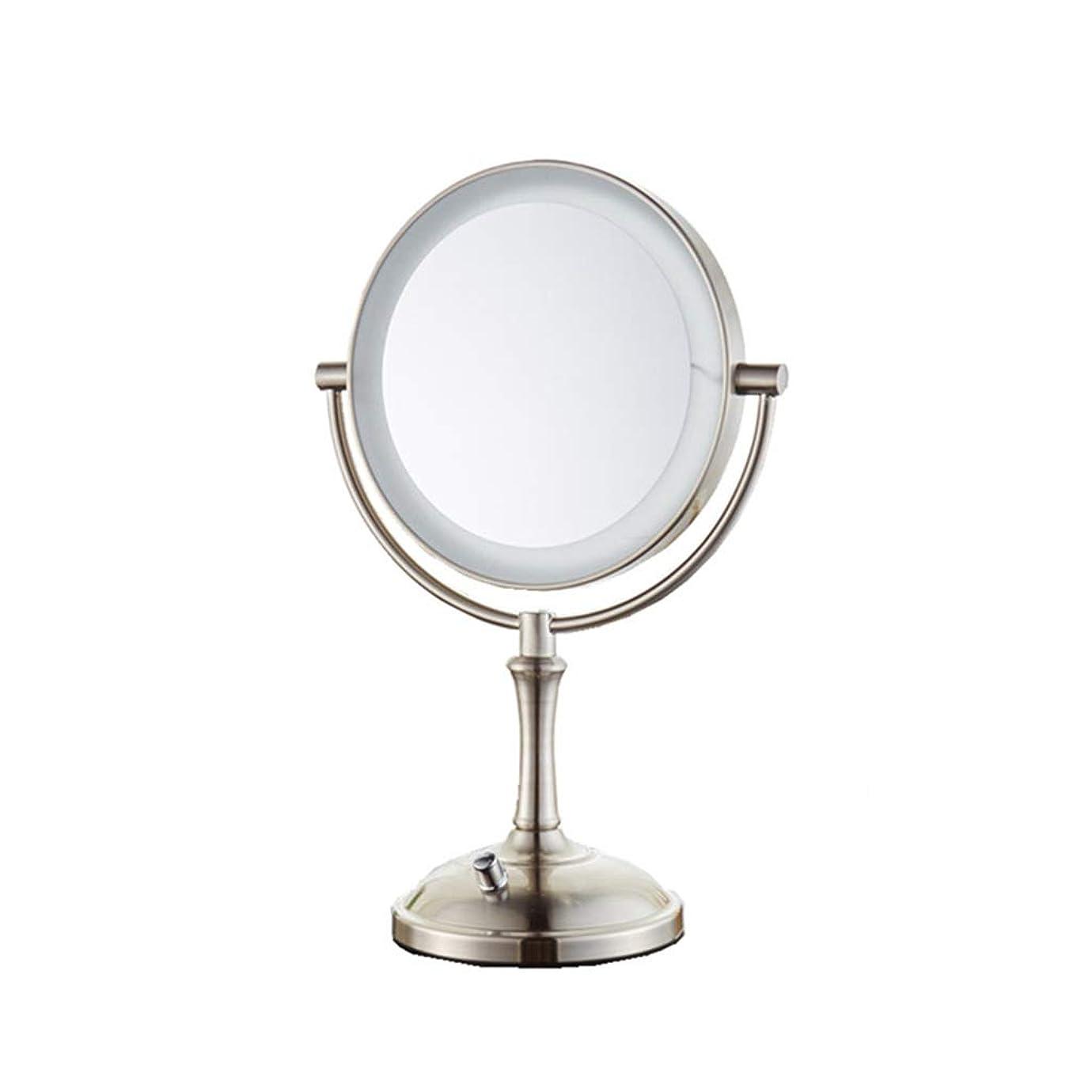 毎週ブラストフルーツ.化粧鏡 LED化粧鏡 - 両面3倍拡大鏡の明るさ調整HDの美しさ化粧台ミラープリンセスミラードレッシングルーム寝室のバスルーム ED化粧鏡1倍/ 2倍/ 3倍/ 5倍/ 10倍拡大鏡ポ (Color : B, Size : Knob control)