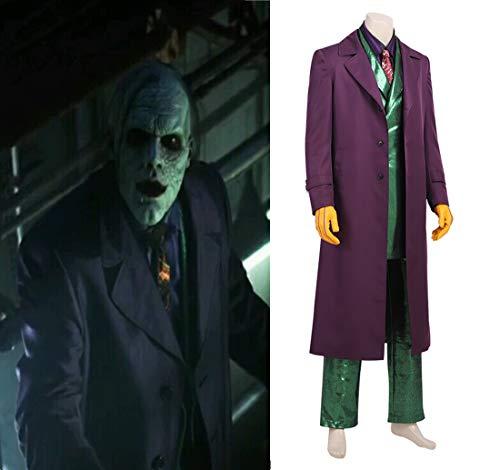 Rubyonly Joker Kostüm Batman Karneval Halloween Jerome Valeska Ausstattungs-Abend Jeremiah Valeska Outfit,XL