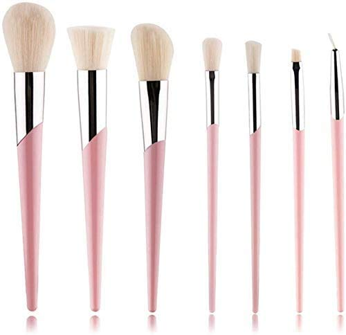 XHDMJ Beauty Tools Makeup Brush Set 7 Piece Synthetic Kabuki Red Face Mix Brush Kit