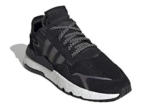 adidas Hombre Nite Jogger Zapatillas Negro, 44