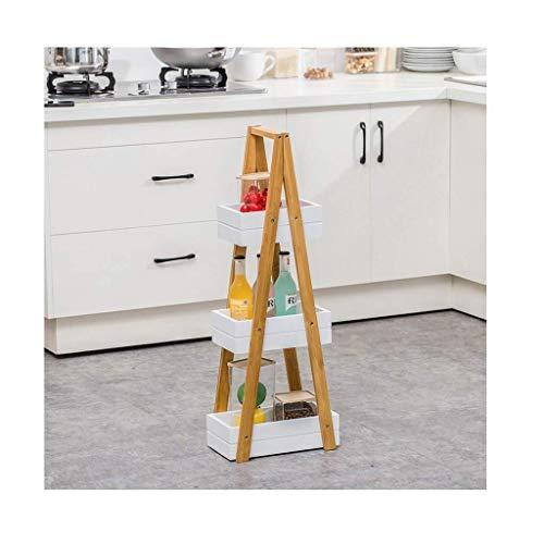 Mlzaq Abstellflächen Leiter Bücherregal Industrieregal Regal mit Metallrahmen for Wohnzimmer/Schlafzimmer/Büro (Size : B)
